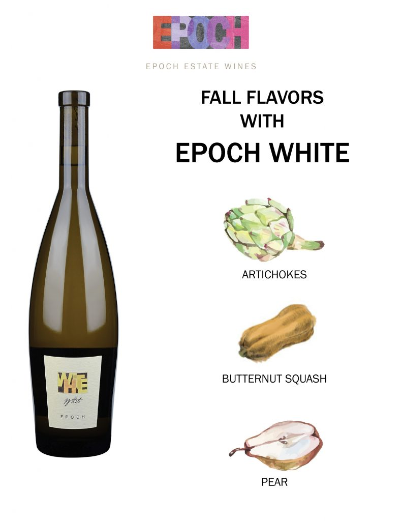 Epoch Estate Wines White Wine, Pairings with Rhône white wine, food pairings with white wine, paso robles white wine food pairing
